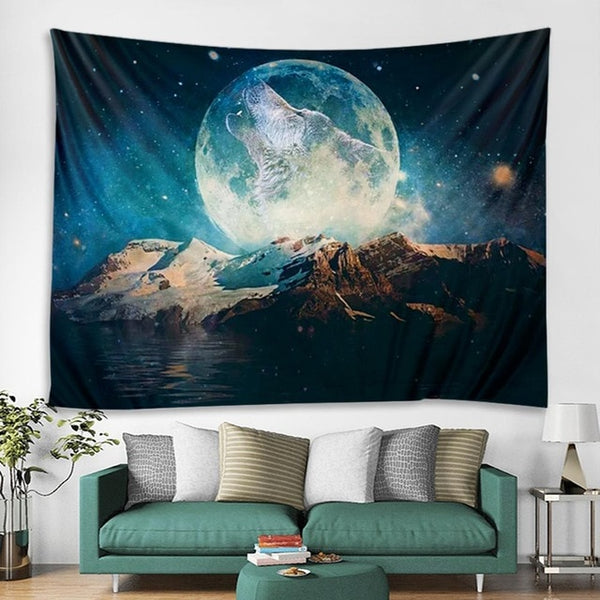 Howling Moonlight Tapestry