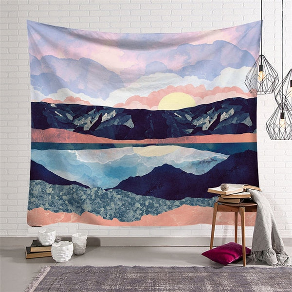 Sunrise Lake Landscape Tapestry