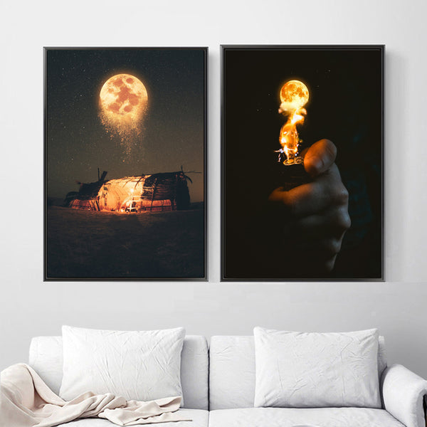 Forever Fire Moon Canvas Posters