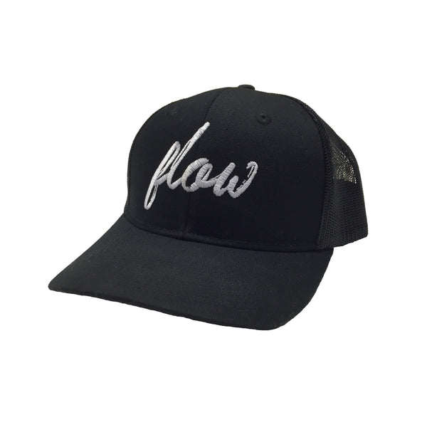 Flow trucker hat (front oblique)
