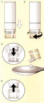 How to use the homeopathic tubes
