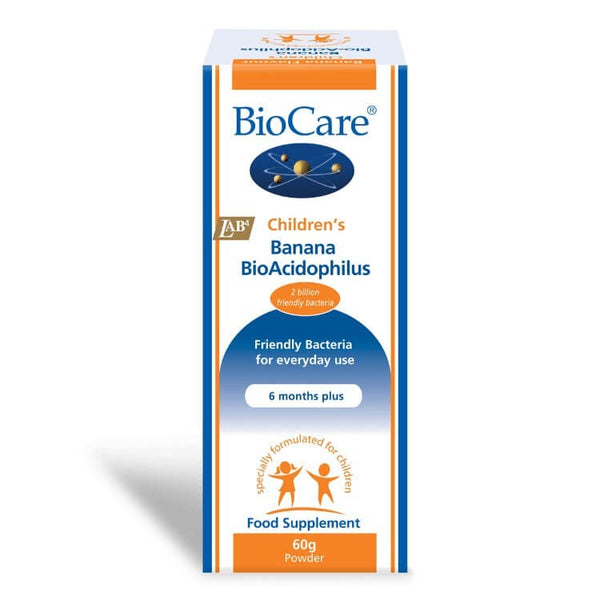 Biocare Children's Banana BioAcidophilus 60g Powder