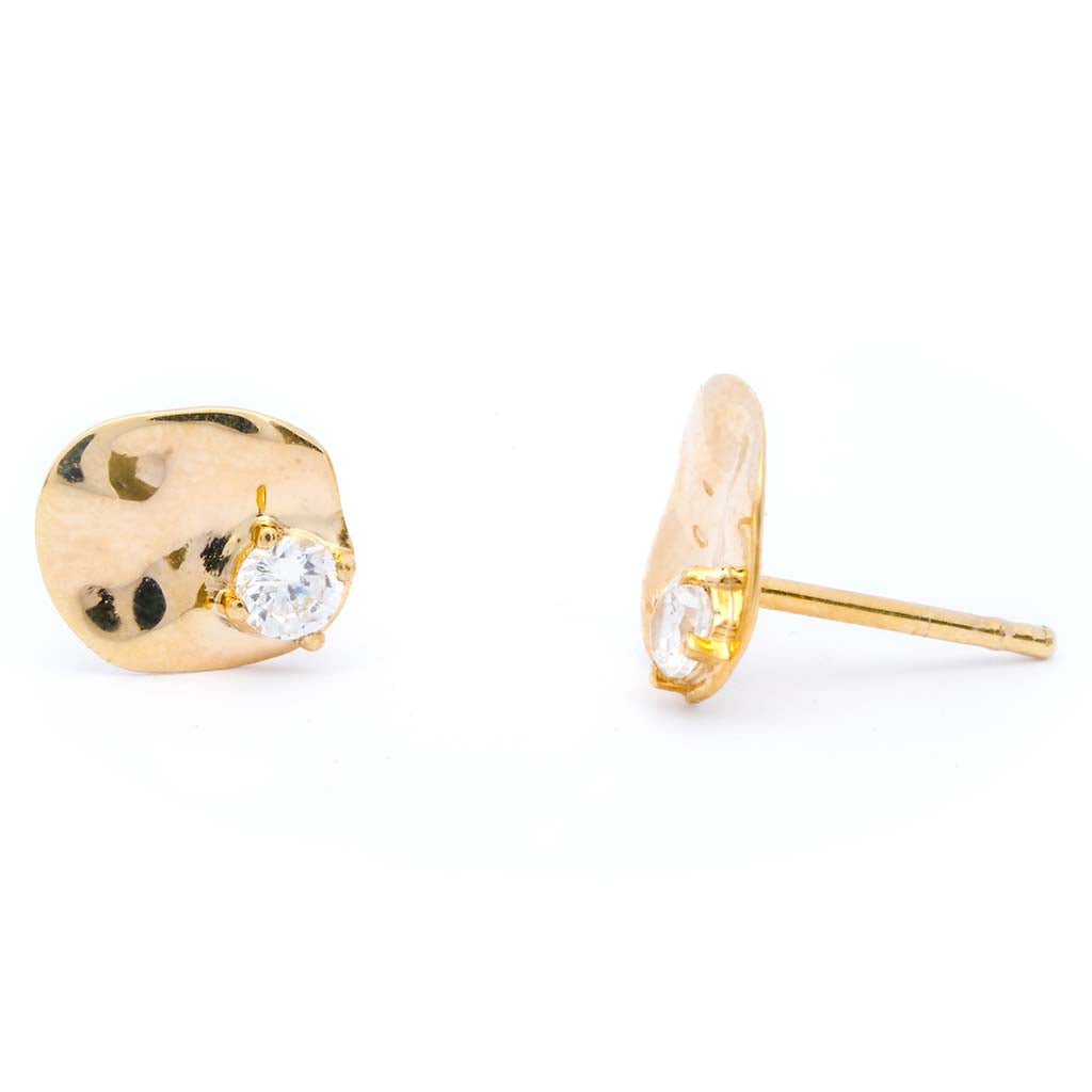 Salouen studs crafted by Sceona sustainable fine jewellery on a white background