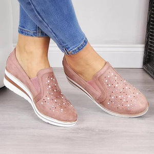 Women Shining Casual Slip-on Sneaker Shoes