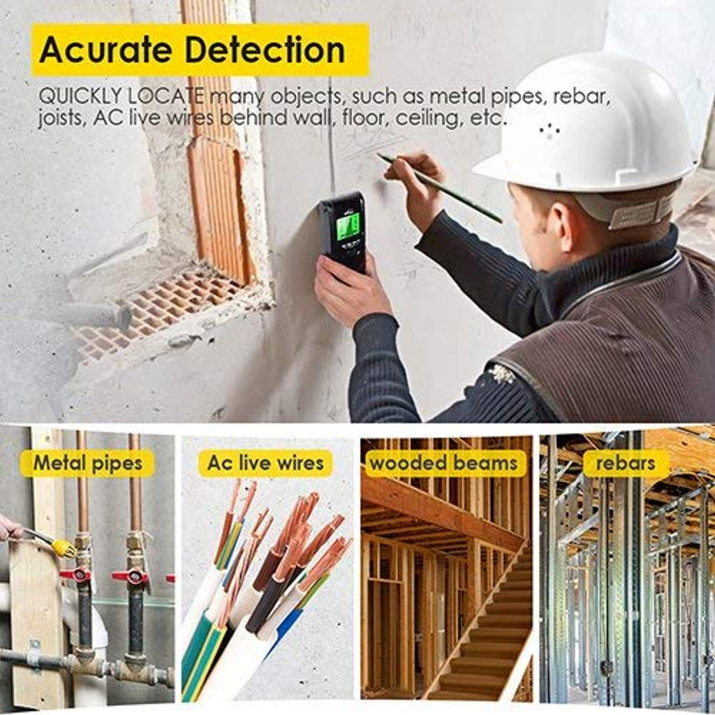 4 in 1 Electric Multi Function Wall Detector Finders with Digital LCD Display