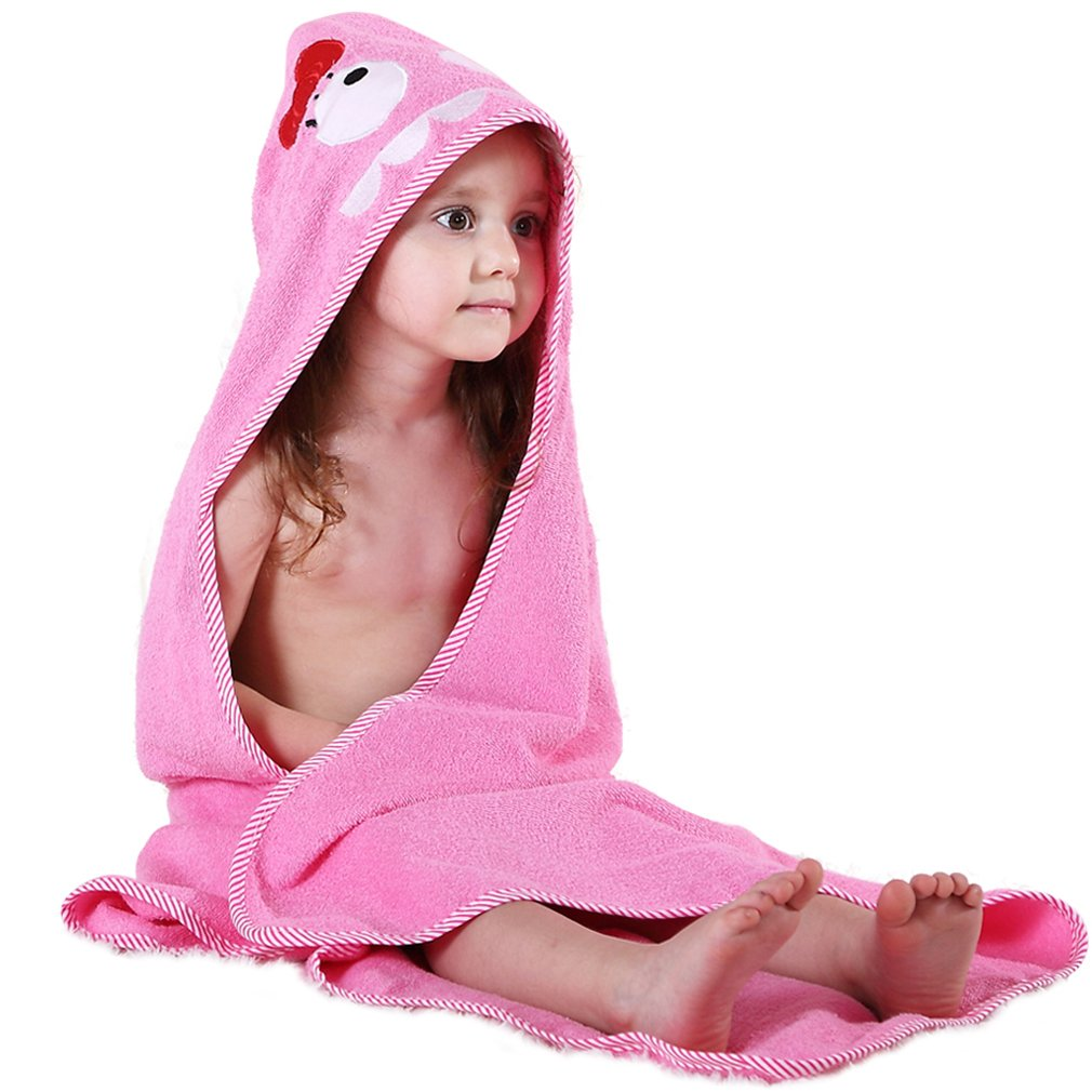 Animal Face Hooded Baby Towel Cotton Bathrobe