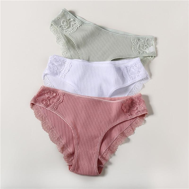 3Pcs/lot Solid Women's Panties Comfort Underwear