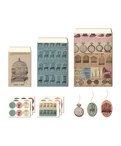 Cavallini Petite Parcel French Ephemera Set