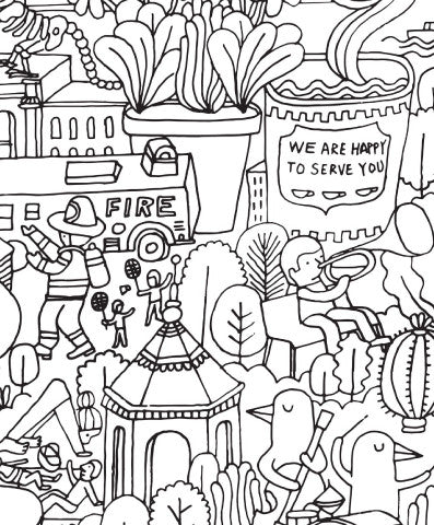 The Big Apple Really Big Coloring Poster | Ela & Glo | ELAANDGLO.COM