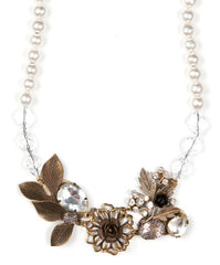 Elements by Jill Schwartz Leaf Crystal Necklace
