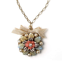 Elements by Jill Schwartz Flower and Ribbon Necklace