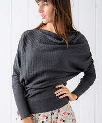 The Lucca Sweater in Charcoal
