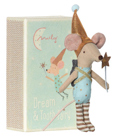 Maileg mouse tooth fairy boy with backpack