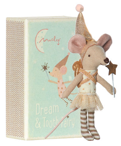 Maileg mouse tooth fairy girl with backpack