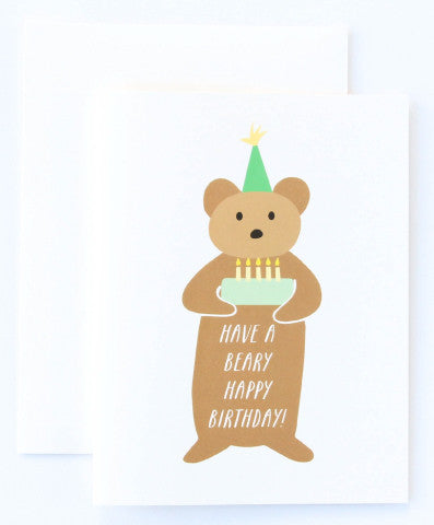 Beary Happy Birthday Greeting Card
