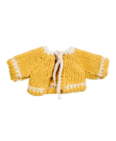 Maileg Micro Knitted Cardigan in Yellow