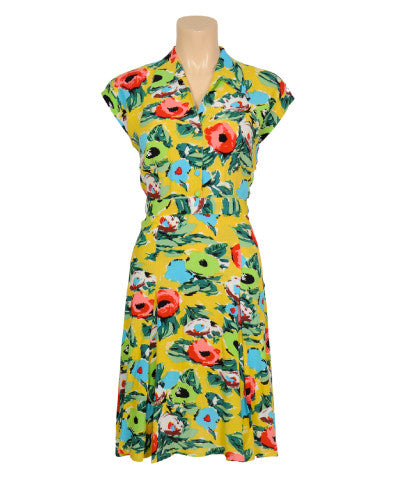 Louie et Lucie Doris Dress Renoir in Mimosa Yellow