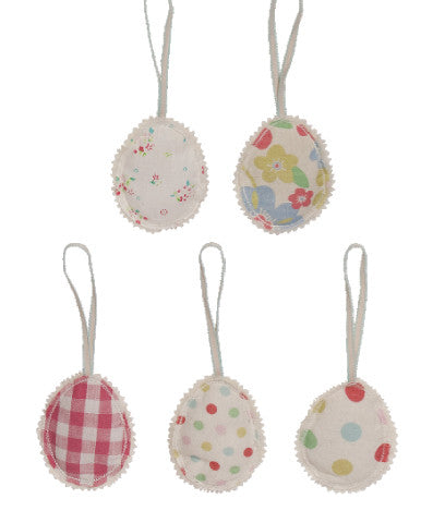 Maileg Assorted Fabric Decorative Easter Eggs, Set of Five