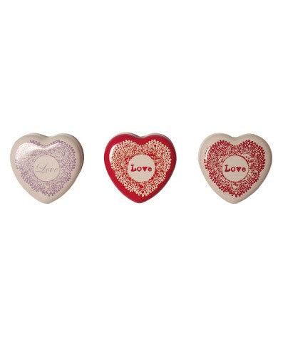 Maileg Vintage Heart Box, Set of Three