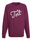 Burgundy logo sweater