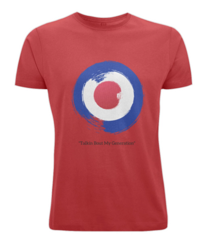 "Men's 100% Cotton T-Shirt - ""Talkin Bout My Generation"" Mod T-Shirt logo"