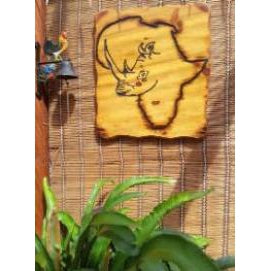 African Rhino Wall Art - Reclaimed Material