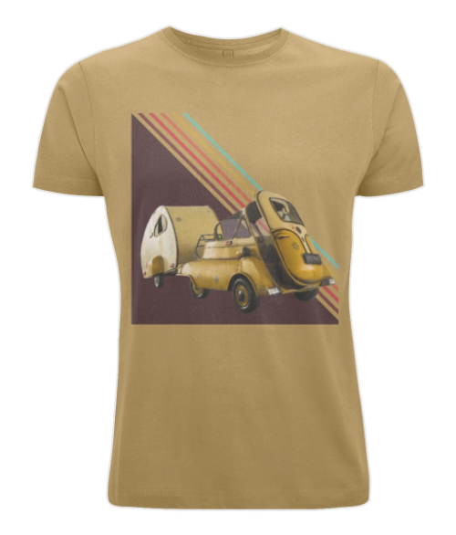 Men's 100% Cotton T-Shirt - Retro 3 wheeler