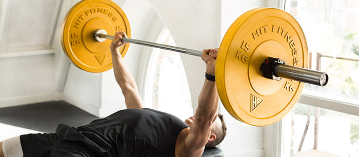 barbell and plates