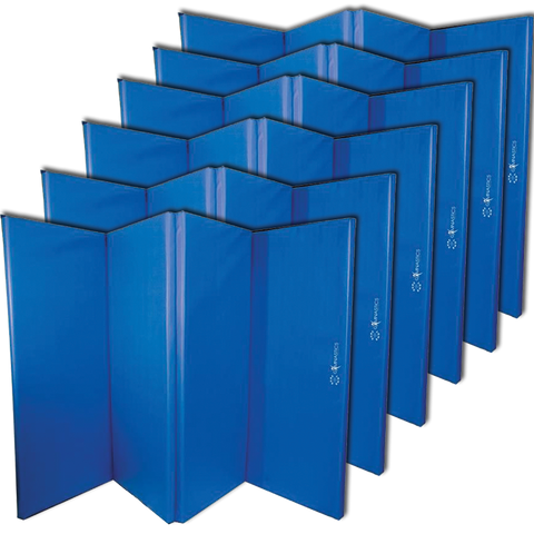 Sure Shot Foldable Gymnastics Mats 50mm | Blue (6 Pack) Image McSport Ireland