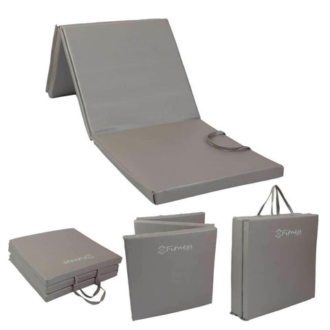 Fitness Tri-Fold Mat | Silver-Grey 6' x 2' x 30MM