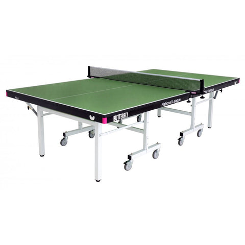 Butterfly National League 25 Rollaway Indoor Table Tennis Table | Green Image McSport Ireland