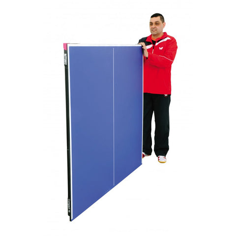 Butterfly 9ft Compact 16 Wheelaway Table Tennis Table | Blue Image McSport Ireland