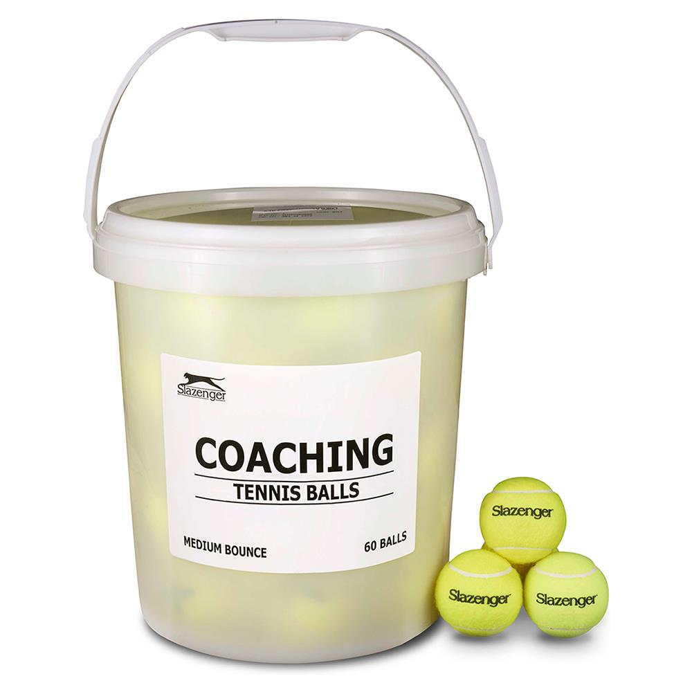 Slazenger Value Tennis Ball Bucket - 60 Pack Image McSport Ireland