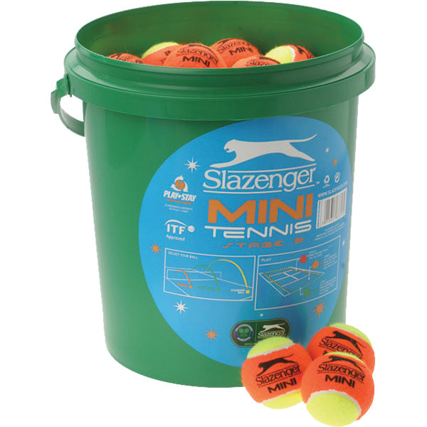 Slazenger Mini Orange Tennis Ball Bucket Image McSport Ireland
