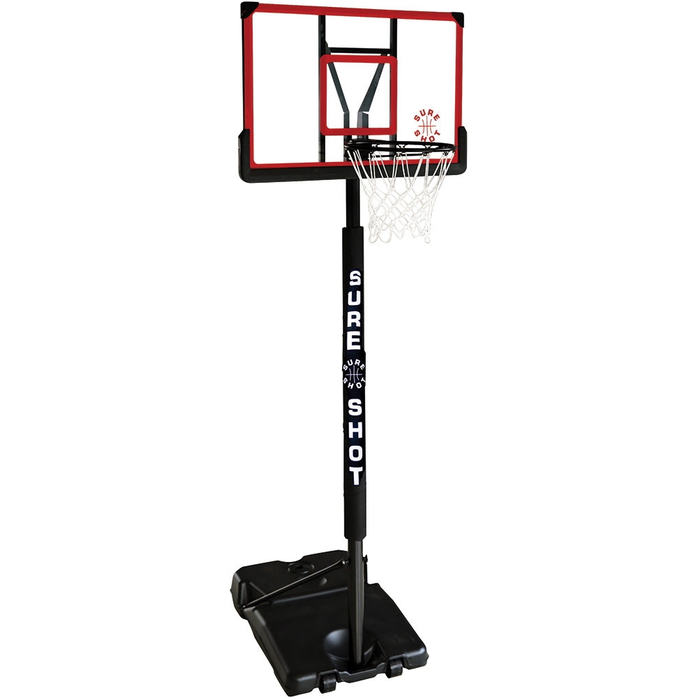 Sure Shot Adjustable Basketball Unit with Acrylic Backboard Image McSport Ireland