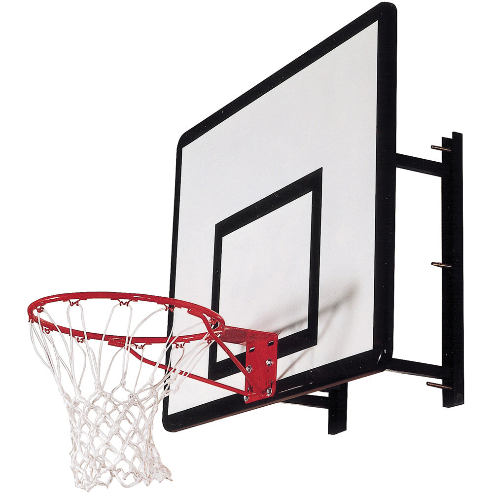 Heavy Duty Basketball Wall Mount with Hoop and Ring Image McSport Ireland