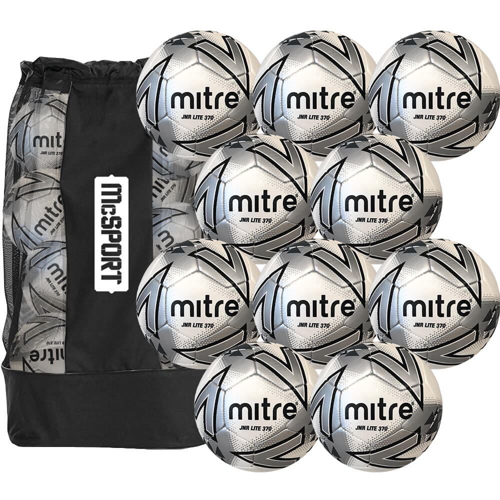 Mitre Junior Lite 370g Match Balls | 10 Pack Image McSport Ireland