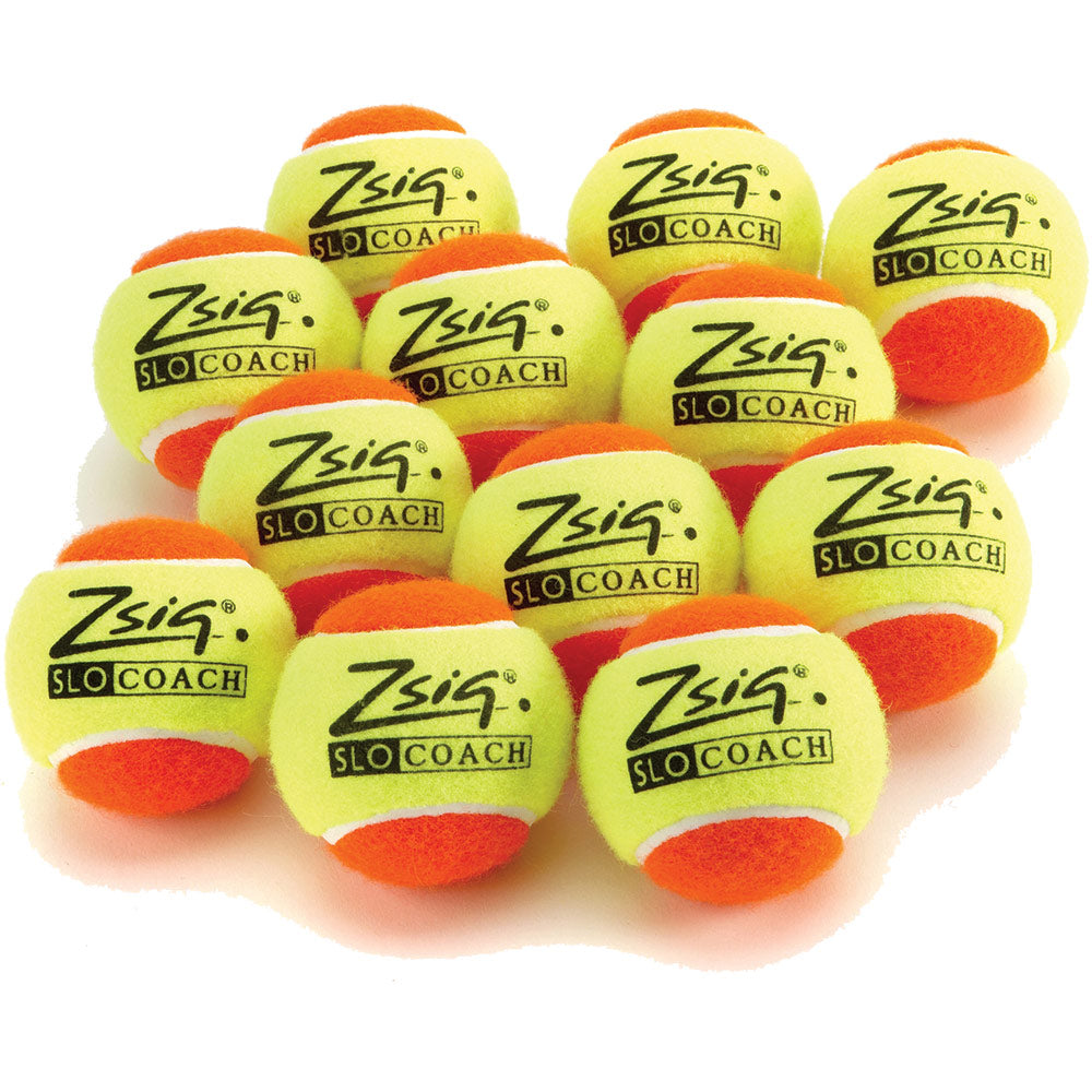 Zsignet Orange SloCoach Mini Tennis Balls (12 PK) Image McSport Ireland