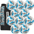 Mitre Impel Max Football 10 Ball Pack with Carry Bag | Size 5 Image McSport Ireland
