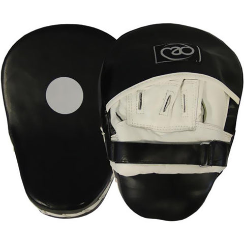 Fitness Mad Curved Leather Hook & Jab Pads Boxing Image McSport Ireland
