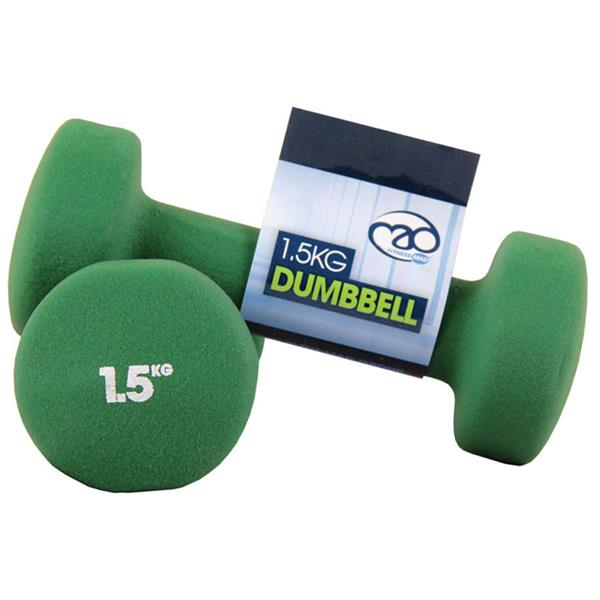 Fitness Mad Neoprene Dumbbells | 1.5Kg Image McSport Ireland
