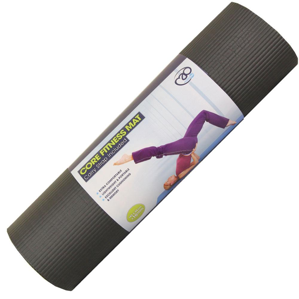 Fitness Mad Pilates Core Fitness Mat | 10mm (Black) Image McSport Ireland