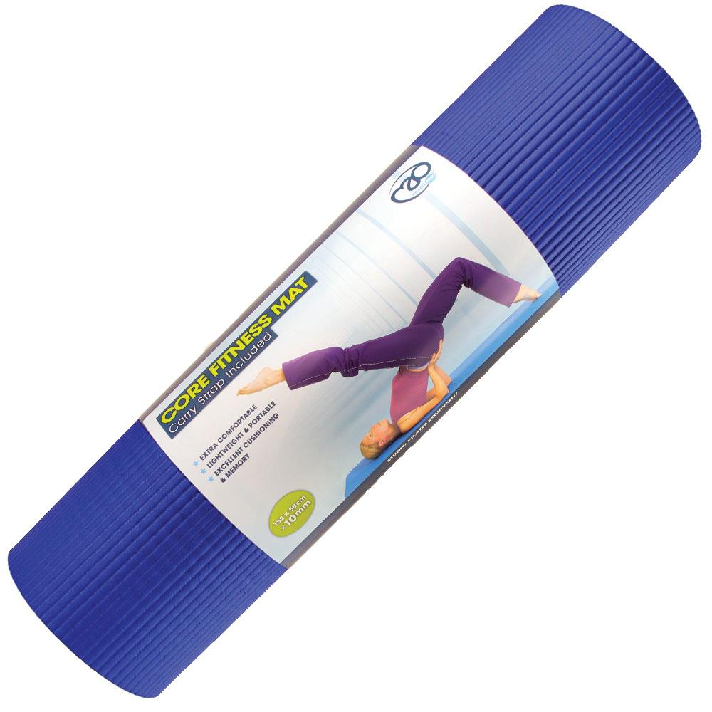 Fitness Mad Pilates Core Fitness Mat | 10mm (Royal Blue) Image McSport Ireland