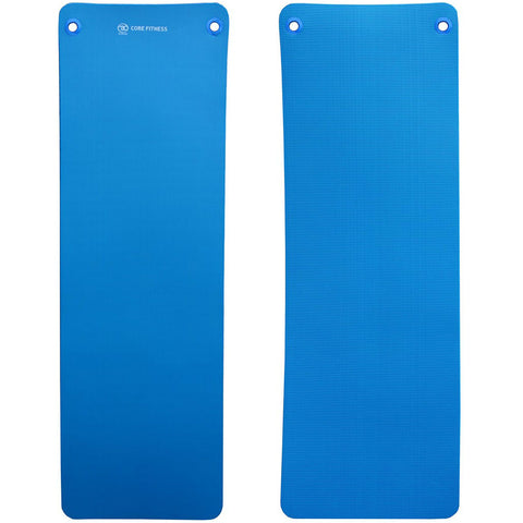 Fitness Mad Core Fitness Mat Blue 10mm with Eyelets Image McSport Ireland