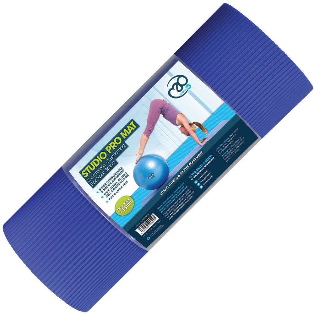 Fitness Mad Studio Pro Mat - 15mm Image McSport Ireland