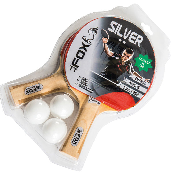 Fox Silver 2 Player Table Tennis Set Image McSport Ireland