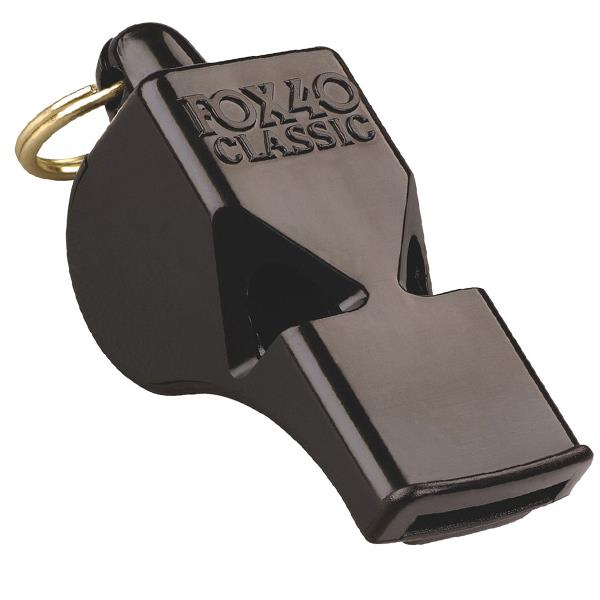 Fox 40 Classic Official  Whistle + Wrist-L/yard Blk (9908-0008) Image McSport Ireland