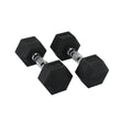 Hit Fitness Rubber Hex Dumbbells | 8kg Image McSport Ireland