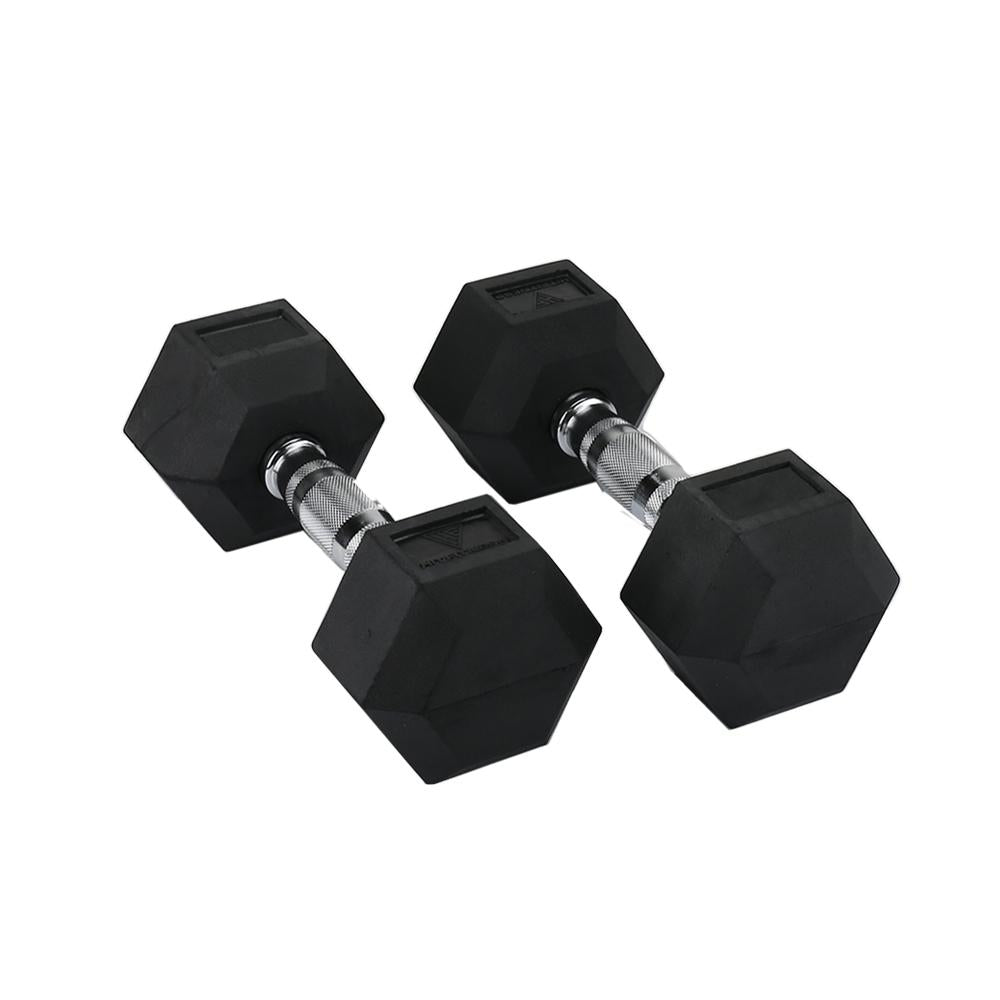 Hit Fitness Rubber Hex Dumbbells | 9kg Image McSport Ireland
