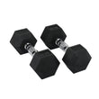 Hit Fitness Rubber Hex Dumbbells | 35kg Image McSport Ireland